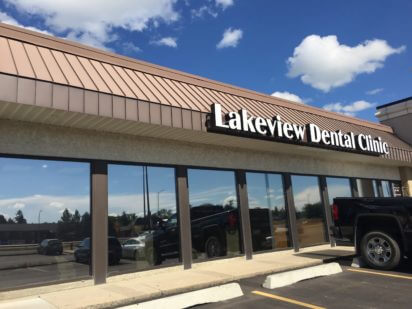 Lakeview Dental Clinic with completed solar window tint